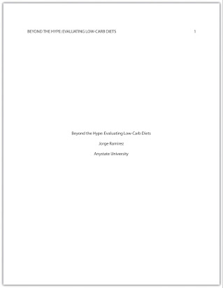 what is title page in research
