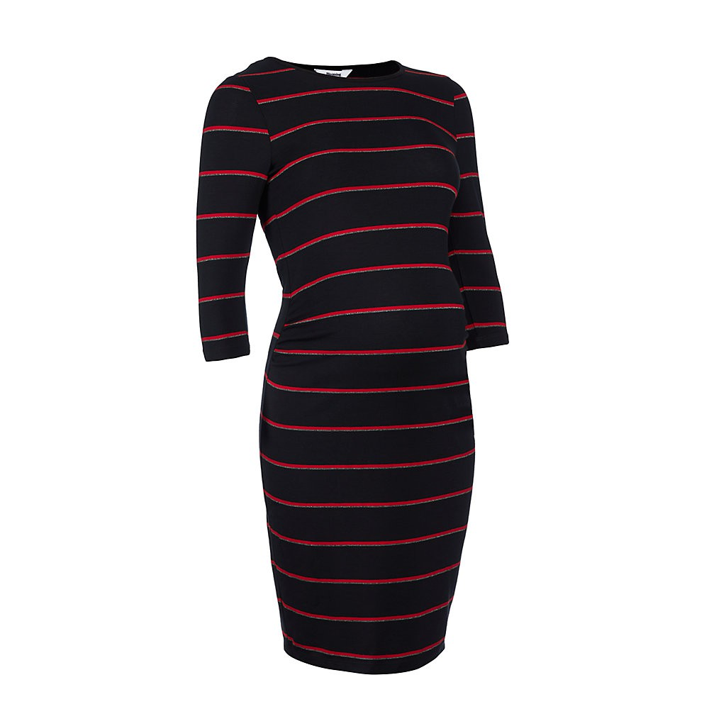 4. Mothercare Red  and Silver Striped Maternity tube dress TD518