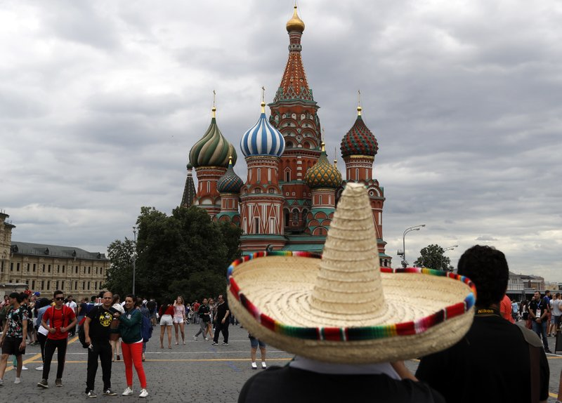 Mexican tourists in Russia