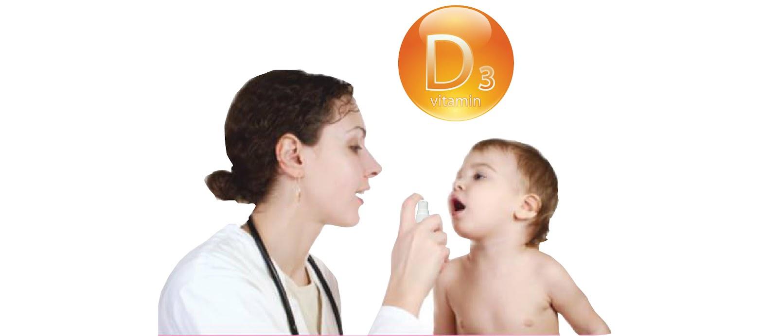 Cho trẻ uống trực tiếp vitamin D3