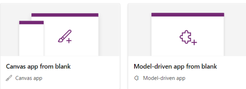 canvas app and model driven app
