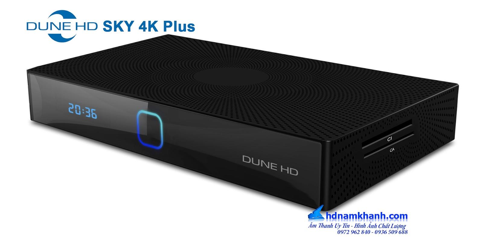 Dune HD Sky 4k Plus, đầu phát 4k mang tính năng android box