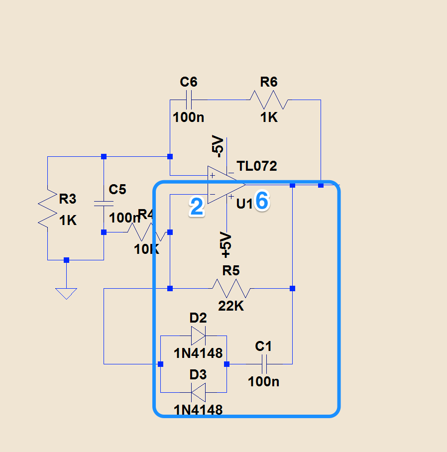 1st Stage Of The Ec Circuit Wien Bridge Oscillator On A Rc And Oscillatorcircuit Group Sub Goes From Inverting Input Lmc6041pin 2 To Output Lmc041 Pin 6 Subcircuit