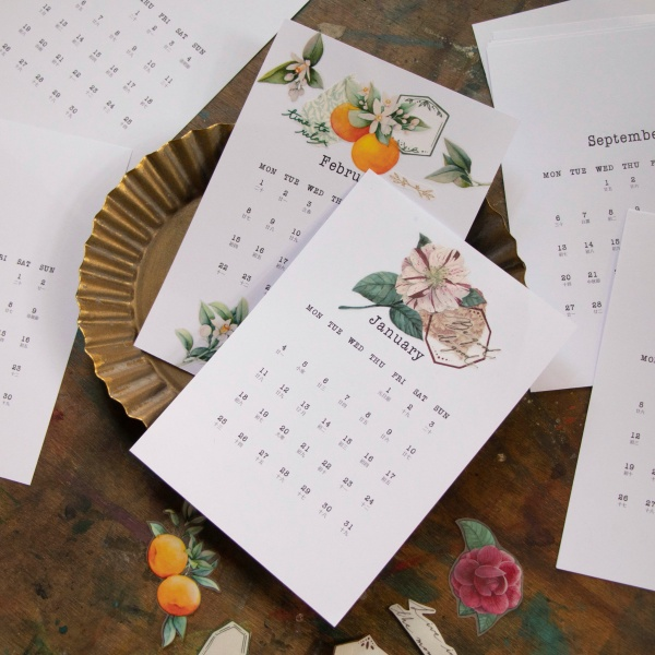 品品學堂-2021月曆拼貼創作