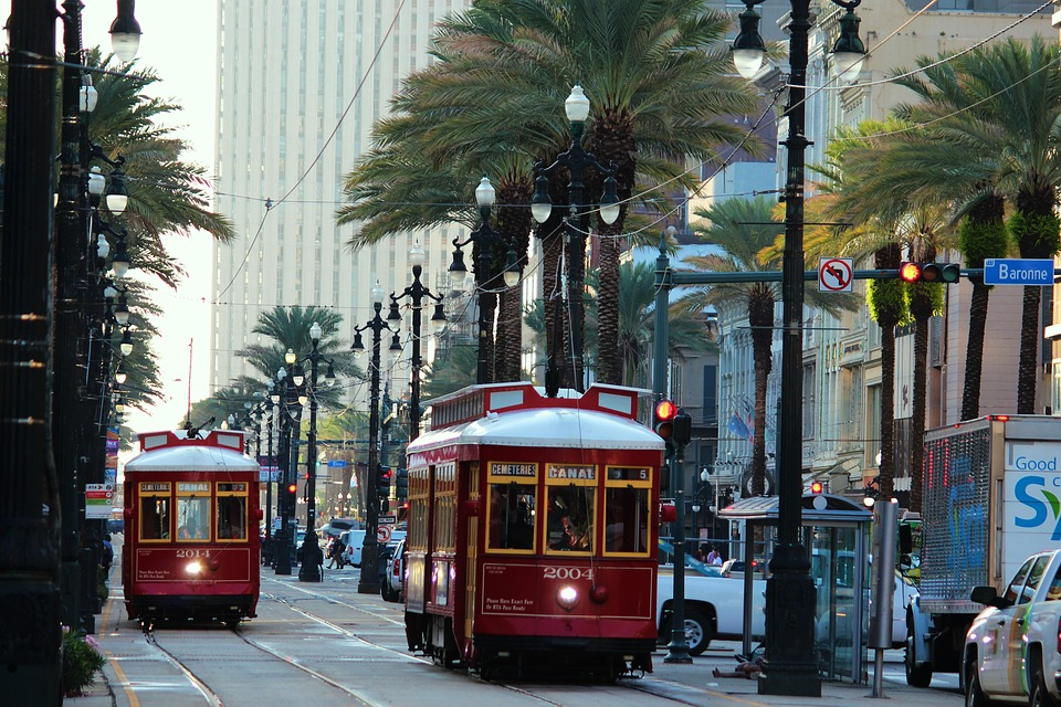 New Orleans street cars. Bucks party