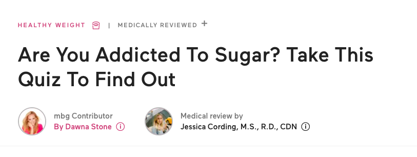 Are you addicted to sugar? quiz