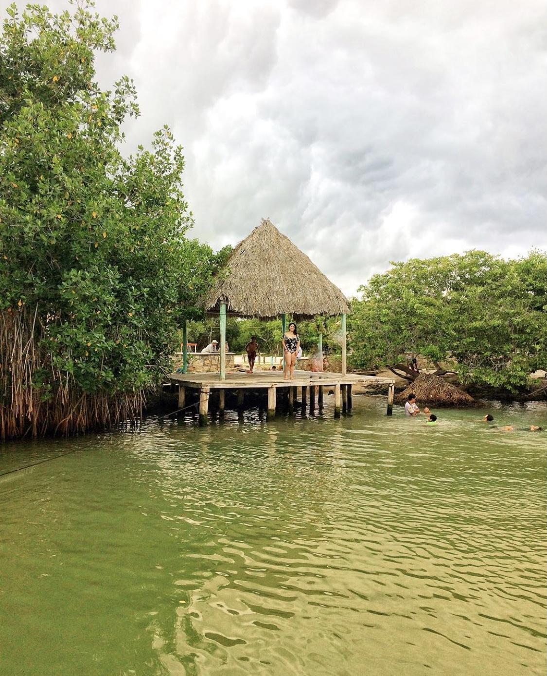 ojo de agua Chiquilá, Yucatán