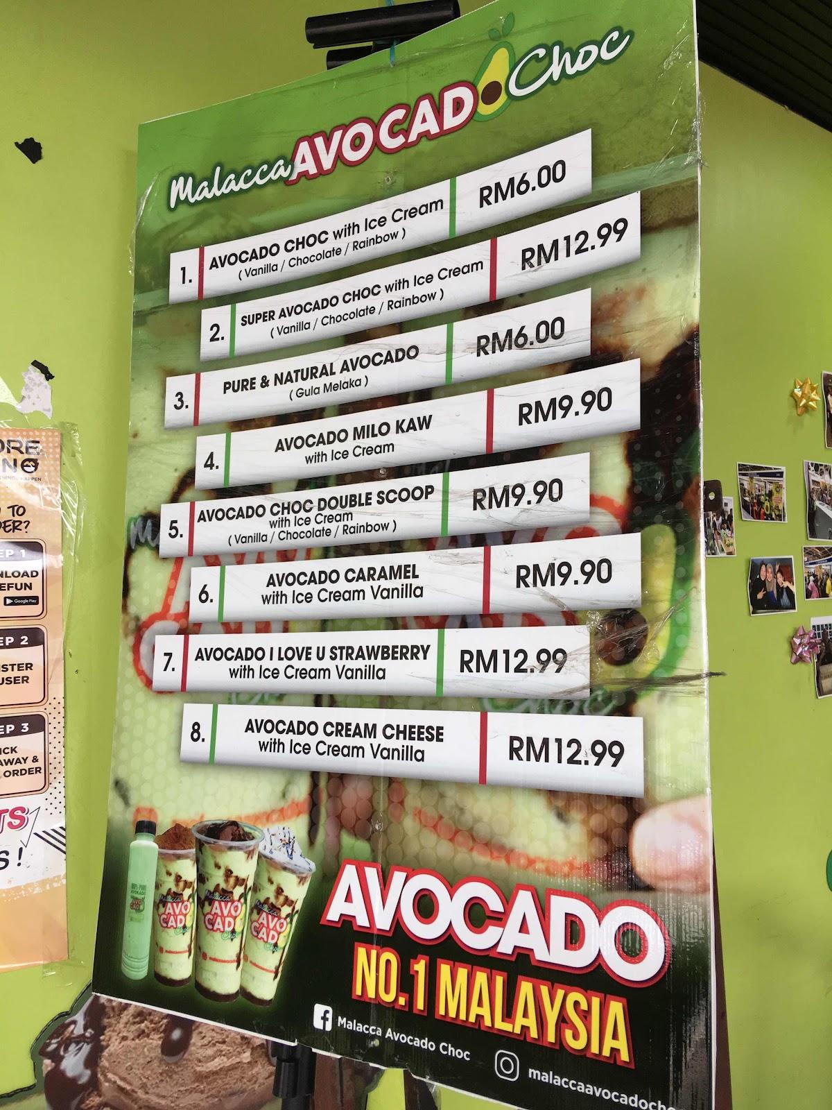 malacca avocado choc viral