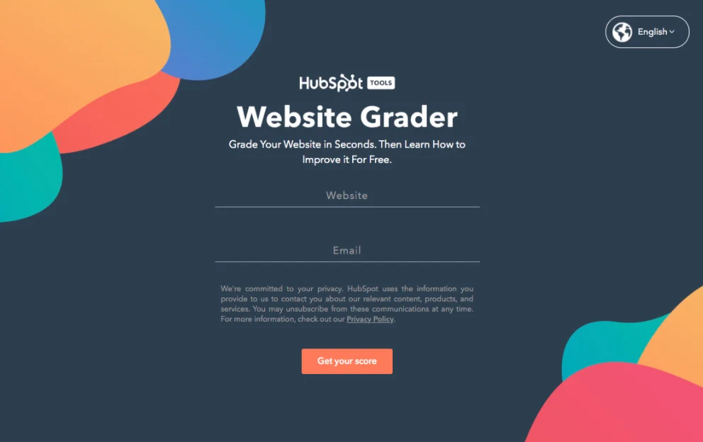 HubSpot launched a tool called Website Grader