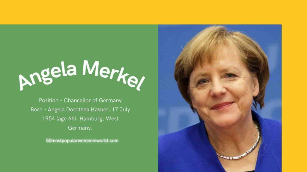 Angela Markel 50 Most Popular Women
