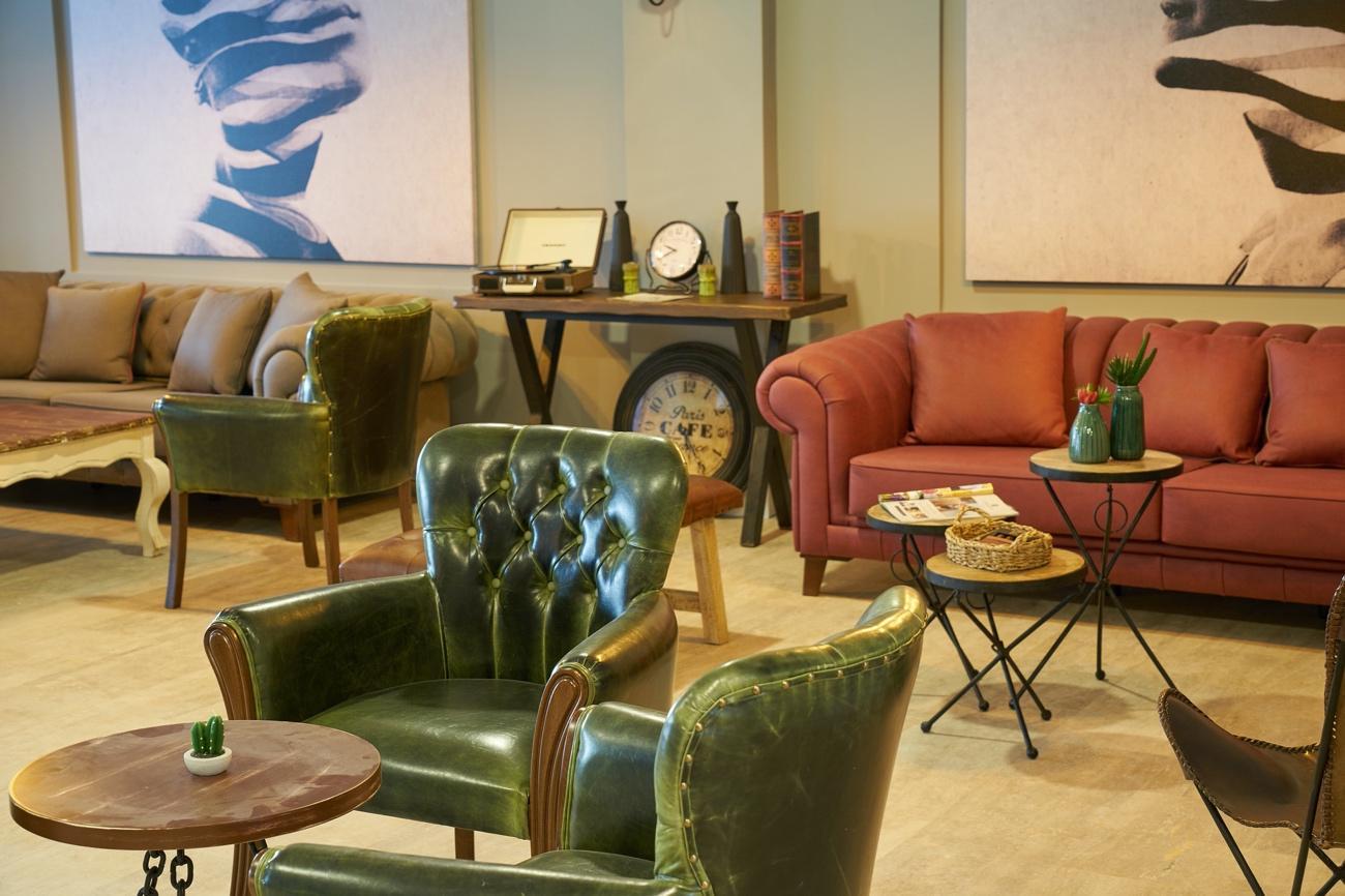 Sillones de hotel para lobby estilo vintage