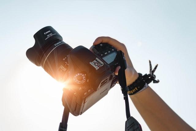 Camera aimed to the sky