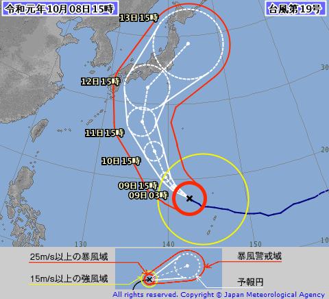 台風情報の図