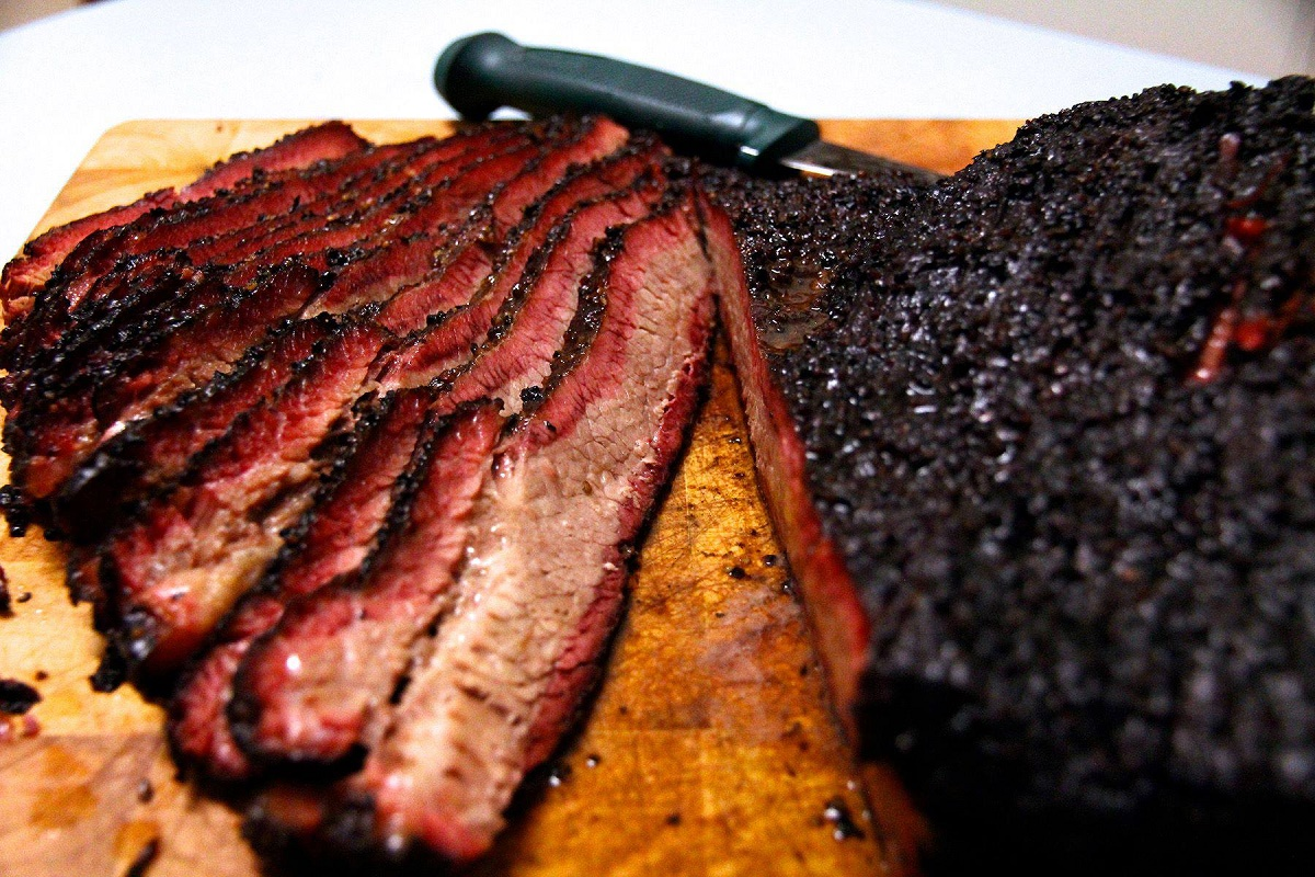 Low-and-slow smoked meat