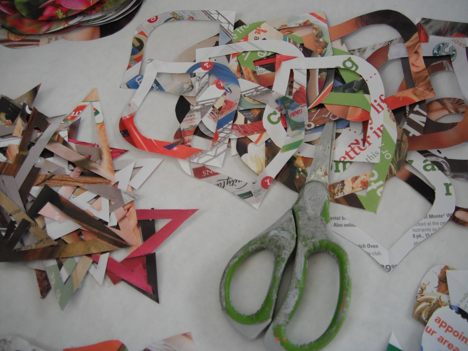 tools of the trade: scissors and magazines