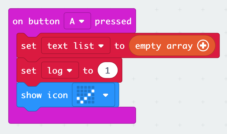 on button event in MakeCode