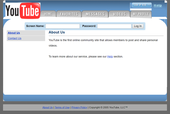 First Versions: YouTube