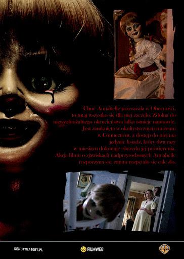 Tył ulotki filmu 'Annabelle'