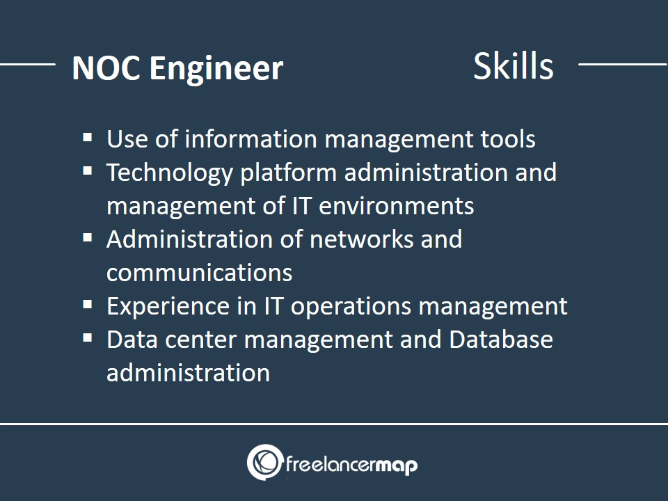 List of skills required by Network Operations Centers Engineers