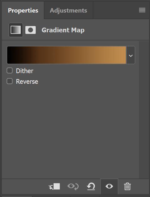Gradient Bar in Gradient Map panel