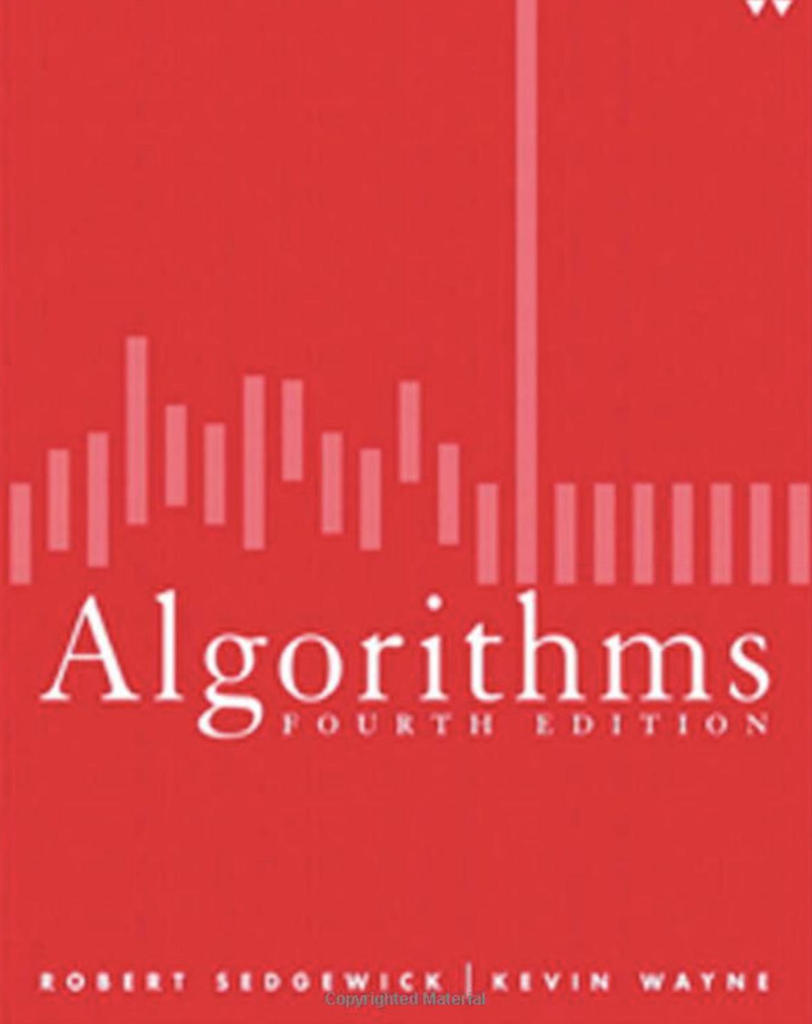 Algorithms fourth edition Book Cover
