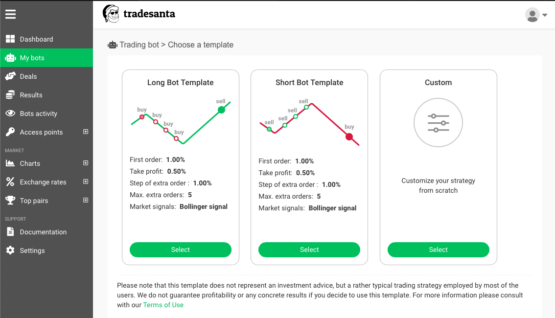 trading bot strategies - trade santa