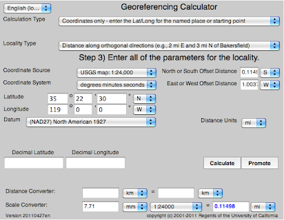Georeferencing Calculator Manual v2