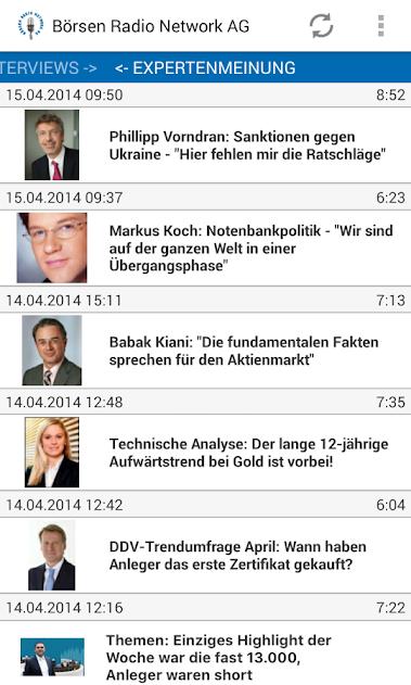 Die Börsen Radio App