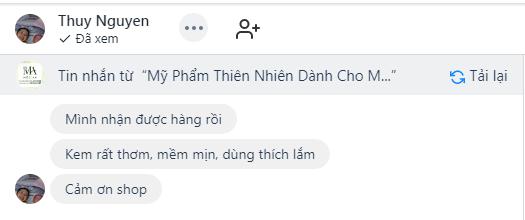 Feedback của bạn Thuy Nguyen