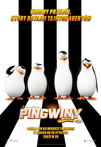 Polski plakat filmu 'Pingwiny Z Madagaskaru'