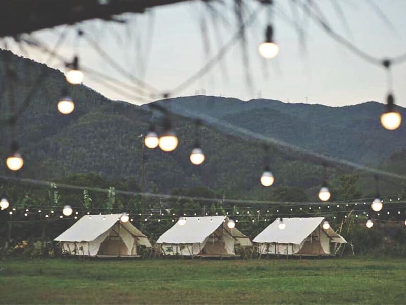 Cảnh chiều tại Yên Retreat