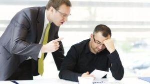 Intimidating behavior causes workplace stress