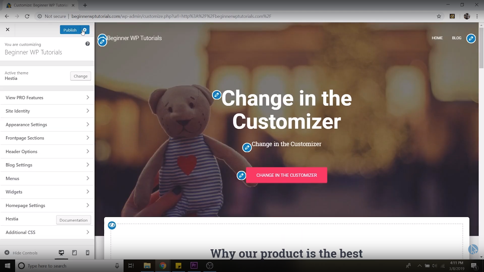 customize homepage wordpress tutorial for beginners
