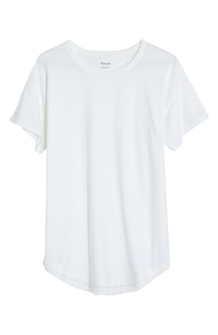 Madewell Whisper Cotton Ribbed Crewneck T-Shirt