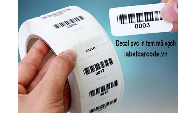 Giấy decal PVC sử dụng in tem nhãn mã vạch