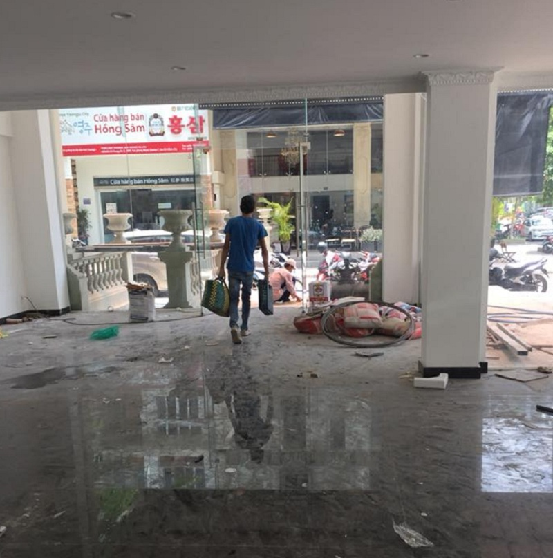 Vệ sinh nhà sau sửa chữa