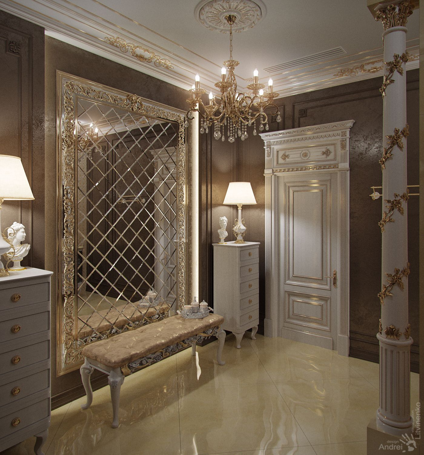 Enlarge Your Space with an Oversized Mirror large walll decor ideas