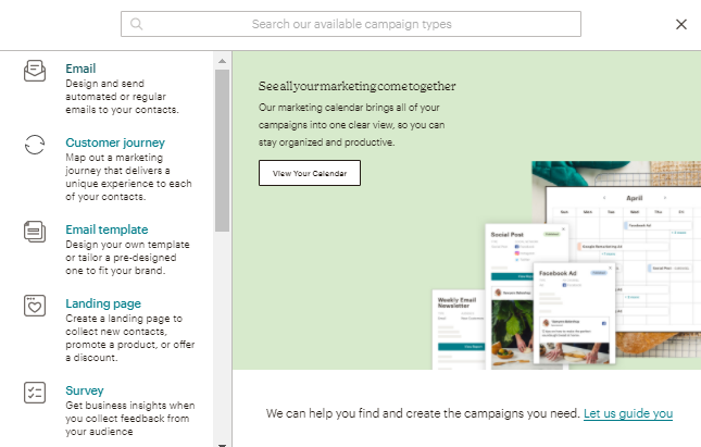 tipos de campanhas de email