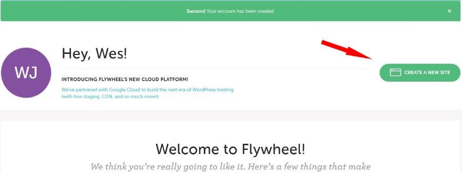 Flywheel signup step 2