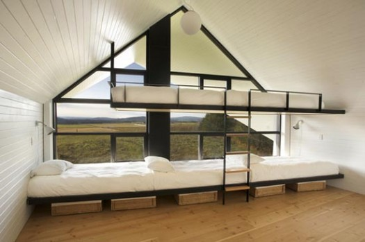 The fancy cabin beds