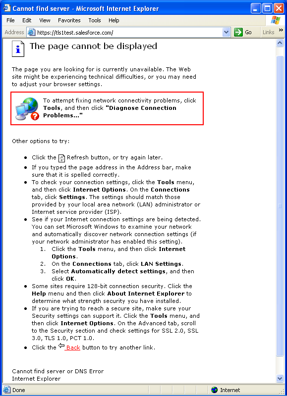 internet explorer why google is no longer working with ie 6 0 sp1the error message indicates the specific reason though