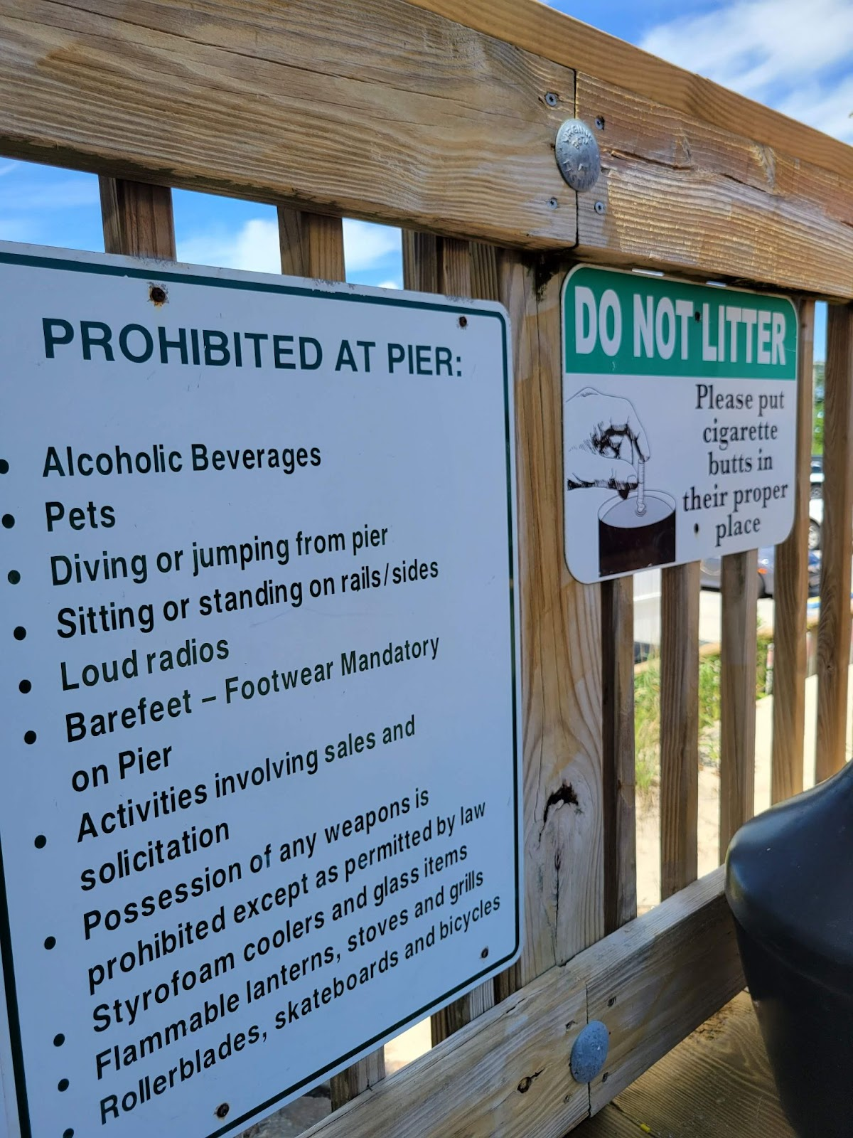 pier fishing etiquette