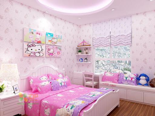 Phòng ngủ công chúa cho bé gái 4