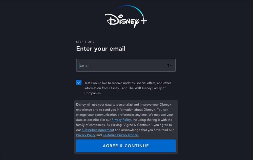 Adding Email to Disney Plus Registration