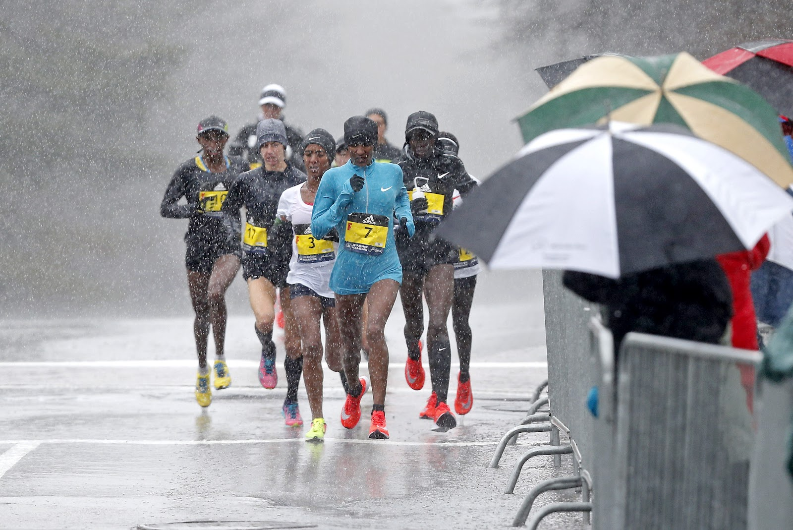 Image result for boston marathon 2018 rain
