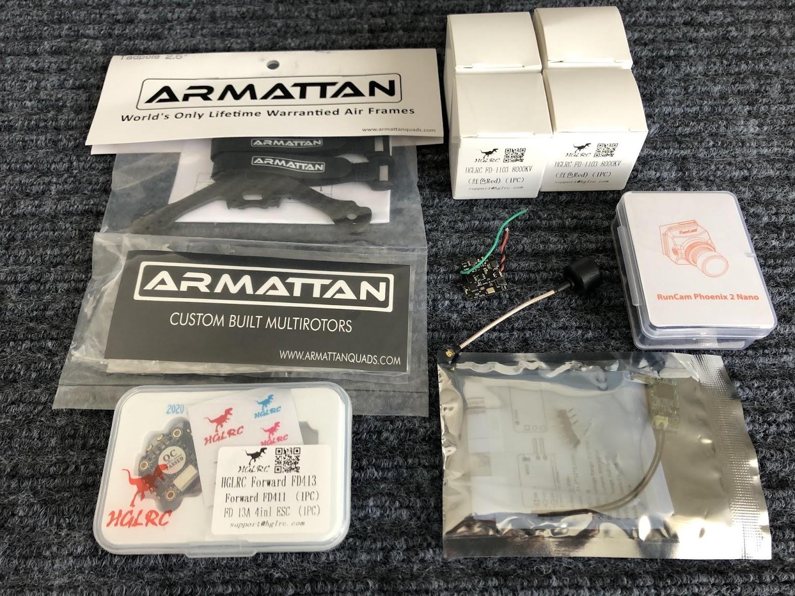 "Armattan Tadpole 2.5"" 組み立て<1>フレーム"