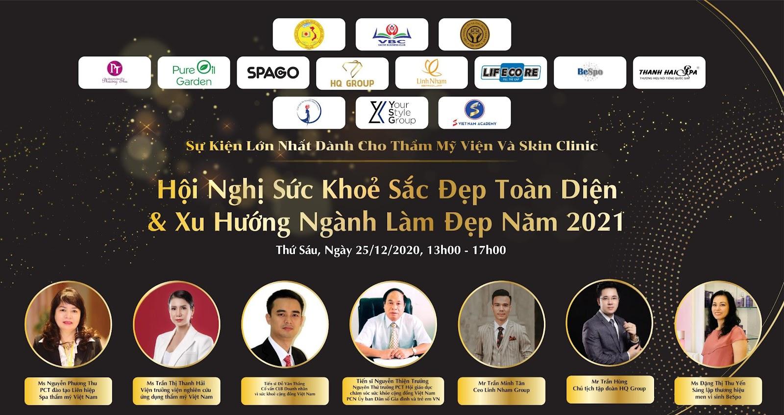 Linh Nham Group – Nhà tài trợ Kim cương tại Hội nghị sức khỏe sắc đẹp toàn diện và xu hướng ngành làm đẹp 2021 - Ảnh 1