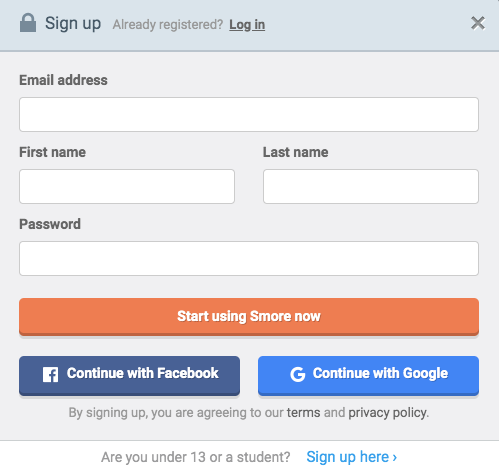 sign in with google or another option