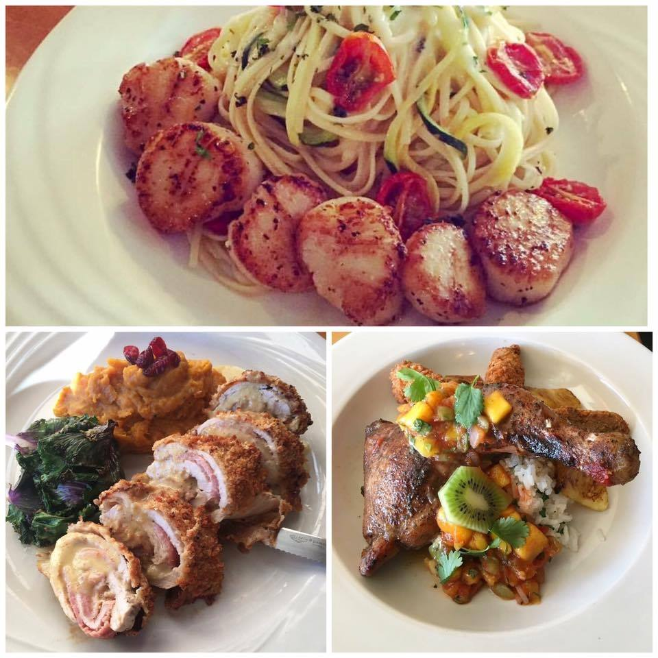 several different dishes from Cristopher's restaurant