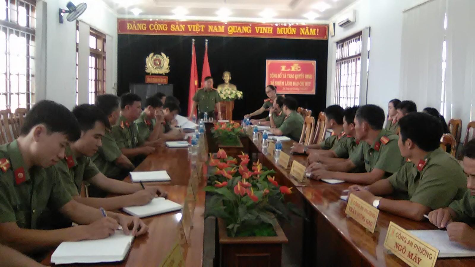 Kiểm tra công tác nghiệp vụ an ninh tại Công an thành phố Kon Tum